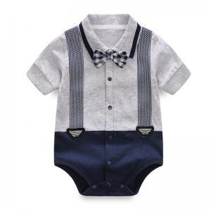 Buy cheap Unisex Baby Short Bodysuit Gentleman Vest Tie Rompers Climbing Jumpsuit from wholesalers