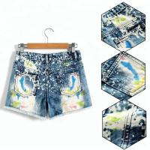 Best Adjustable Waist Children's Denim Shorts , Spring / Summer Little Girl Jeans Shorts wholesale