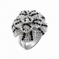 Best Ring with Swarovski Jewelry, Sterling Silver Ring with Crystal, in New Design wholesale