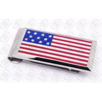 Best American National Flag Stainless Steel Money Clip Personalized Jewelry wholesale