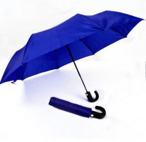 Best Mens Compact Umbrella Push Button Open CloseRoyal Blue 21 Inches Plastic Tips wholesale