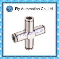 Best Four Way Nickel-Plated Copper Push  - In Pneumatic Brass Tube Fittings PZA Series wholesale