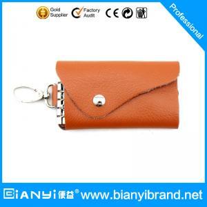 Best Leather custom keychain key bag for lady wholesale
