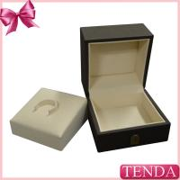 China Top Quality Rated Wooden PU Leather Jewellry Jewellery Jewelry Rings Holders Ring Box on sale