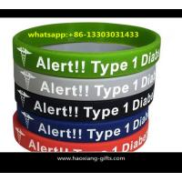 Buy cheap custom Personalized embossed Logo 170*12*2mm Silicone Wristband from wholesalers