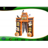 China Inflatable Halloween Arch Decoration Inflatable Pumpkin / Ghost With Candy Tote on sale