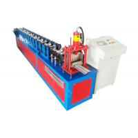 China Color Steel Rolling Shutter Profile Machine , Mould Cutting Door Panel Roll Forming Machine on sale
