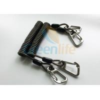Best High Security Steel Reinforced 125MM Long Black Plastic Stertch Coiled Bungee Cable wholesale