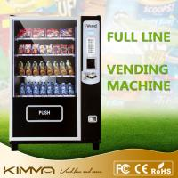 Best Self service glass front full line Coin Operated Vending Machines cans of soft drinks wholesale