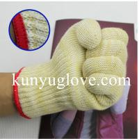China 100% aramid heat resistant Oven Gloves household gloves,heat resistant gloves,Silicon BBQ gloves on sale