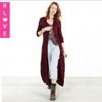 Best Europe 2015 spring models V-neck hooded long style double pocket single breasted coat wholesale