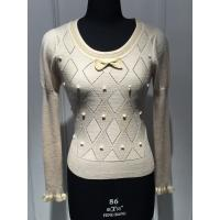 China Lurex Pullover Knit Sweater , Wool Cashmere Long Sleeve Round Neck Light Sweaters For Women on sale