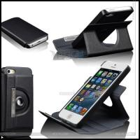 Best 360 Degrees Rotation Leather Case for iPhone 5 wholesale