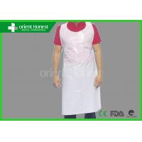 Best White / Blue / Pink Waterproof Plastic Disposable Aprons For Industry wholesale