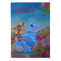 China LED customized Musical Greetings Cards / greeting card with voice chip for birthday gifts on sale