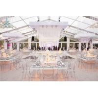 Best Transparent Roof Fabric Tent Luxury Outdoor Wedding Party Marquee Aluminum Structure wholesale