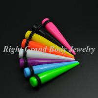 Best Candy Color Ear Stretchers Tapers UV Acrylic 18mm 16 Gauge wholesale