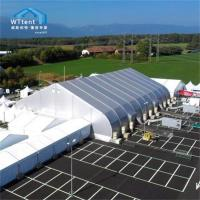 Best Silver Curved Tent PVC Cover , Sports Marquee Sandwich Panel Wall wholesale