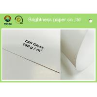 Best Large Art Card Paper Glossy Coated , Art Board Paper For High Speed Sheet Fed Press wholesale