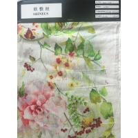 China digital print silk/linen woven fabric on sale