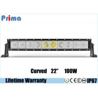 Best Single Row 22 Inch Cree Curved LED Light Bar 100W High Power Cool White 6000K Jeep Roof Bar wholesale