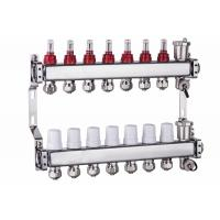 China Art 700 N+1G Square main tube Sliver Color Brass Domestic Water Manifold For Radiant Floor Heating on sale