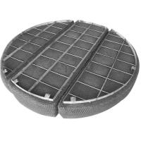 China Knitted Stainless Steel Woven Wire Mesh Filament Surface For Gas / Liquids Separated on sale