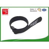 Buy cheap Black hook and loop strap one side sticky backed hook and loop , 100% nylon cable ties with buckle from wholesalers