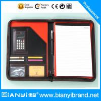 Best Black and red color drawing portfolio with writing pad wholesale