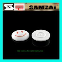 China Black White Store Security Tag Smile Face RF Security Tag 45mm*16mm wholesale
