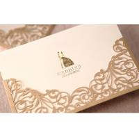 Best Golden Blank Greeting Cards ROHS , Musical Greeting Cards Hot Stamping wholesale