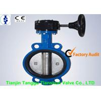 China SS Disc Centerline Wafer Pattern Butterfly Valve Worm Gear Operator PN6 PN10 on sale