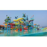 Best Commercial Water Play Structures , Fiberglass Aqua Park Pool Slides wholesale