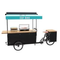 Best Large Storage Electric Tricycle Food Cart , Bike Vending Cart CE Certificate wholesale