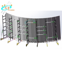 Best Curved LED Screen Wall Group Support Truss System For Cabinets wholesale