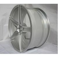 Best BA19/19 inch 20 inch 21 inch Aluminum Alloy Monoblock Forged Wheels by Replica Silver HRE design with 5 Spoke Rims wholesale