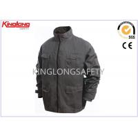 China Male Canvas Workwear High Visibility Safety Apparel With Brass Zipper on sale