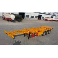 Best 3 Axle 45ft flatbed container semi trailer and truck for sale with BPW axle and low price wholesale