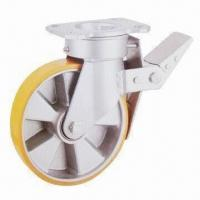 Best Braked Swivel Caster Wheel with Polyurethance Wheels and Aluminum Core wholesale