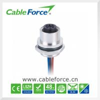 Buy cheap Female 4pin A-Code M12 panel mount connector Rear mounting With 22AWG PVC Wires product