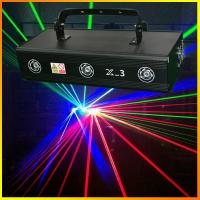 Best Three lens 700mW X-3 RGB Full Color Laser Light Pro Stage Lighting DJ Party indoor Entainment Effect Lights wholesale