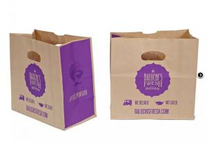 China Spout Top Flexo Printing Fast Food Paper Bags on sale