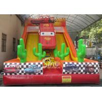 China 6m high kids extreme speed race inflatable car slide for kids outdoor entertainment on sale
