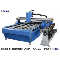 Best Blue CNC Plasma Metal Cutting Machine / Industrial Plasma Cutter With Rotary Axis wholesale