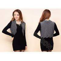 Cheap Womens Cable Knit Sweaters Sleeveless Grey Short Cardigan Vest Knitwear for sale