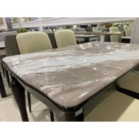 China True Color Artificial Marble Dining Table , No Deformation Solid Wood Dining Table on sale