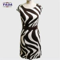 China Fashion zebra-stripe brand casual dresses latest dress designs pictures for young lady on sale