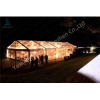Best Transparent PVC Fabric Cover Luxury Wedding Tents for Parties With Aluminum Alloy Frame wholesale