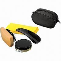 Best Promotional Travel Shoe Shine Kit/Shoe Polishing Kit, Made of PU wholesale