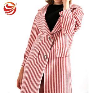 Best Long Big Lapel Women's Casual Winter Coats , Woolen Overcoat For Ladies wholesale